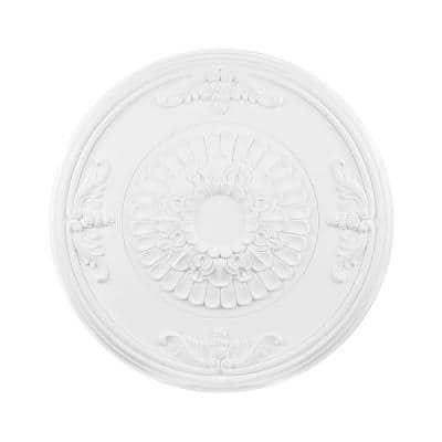27 in. White Ceiling Medallion