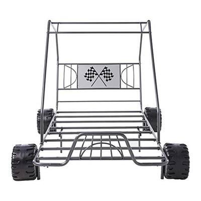 Amelia Gray Gunmetal Twin Go Kart Bed