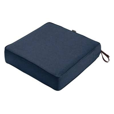 Montlake Heather Indigo Blue 23 in. W x 23 in. D x 5 in. T Outdoor Lounge Chair Cushion