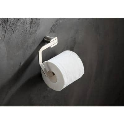 Essence Series Wall-Mount Toilet Paper Holder in Brushed Nickel