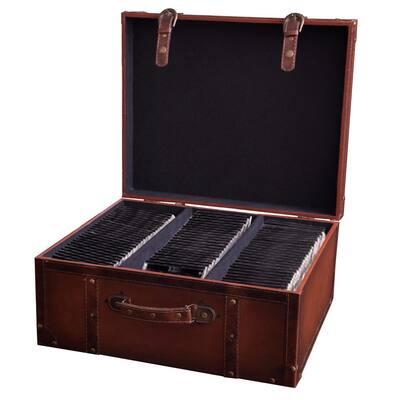 Faux Leather Vintage Suitcase Style CD Case