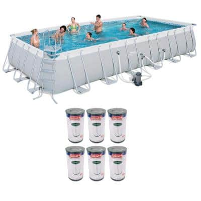 Rectangular 12 Ft X 24 Ft Metal Frame Pools Above Ground Pools The Home Depot