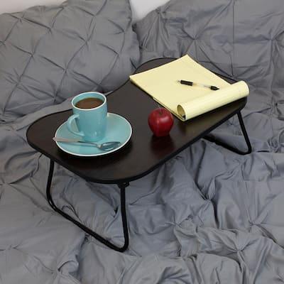 Laptop Bed Tray Dark Wood