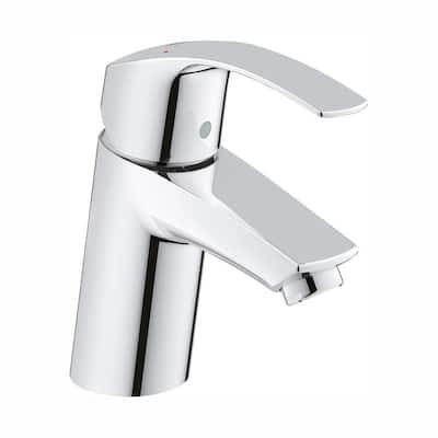 Eurosmart New Single Hole Single-Handle Low-Arc Bathroom Faucet in StarLight Chrome