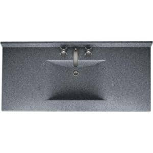 Contour 49 in. W x 22 in. D Solid Surface Vanity Top with Sink in Night Sky