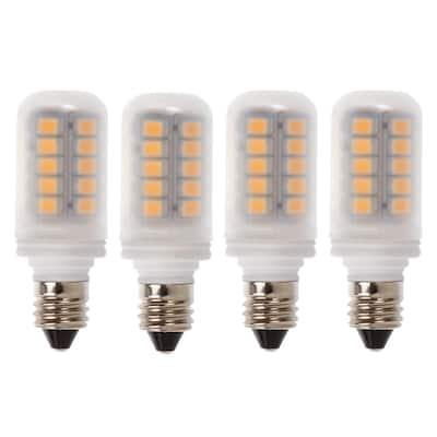 30-Watt Equivalent E11 Non Dimmable LED Light Bulb Warm White (4-Pack)