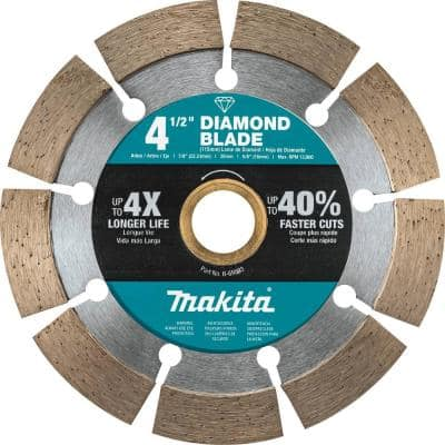 4.5 in. Segmented Rim Diamond Blade for General Purpose