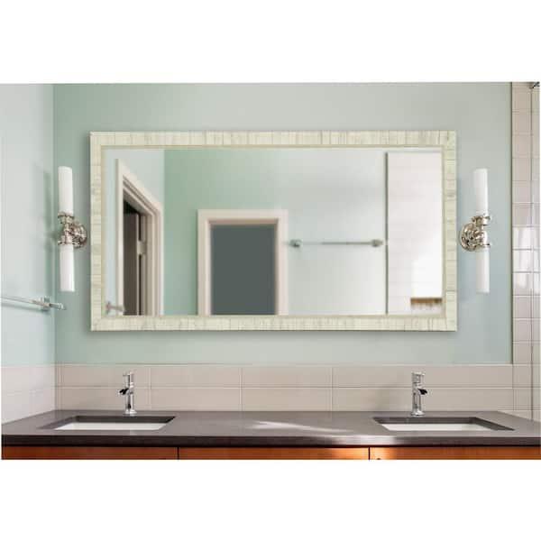 30 In W X 65 H Framed Rectangular, 65 White Bathroom Vanity
