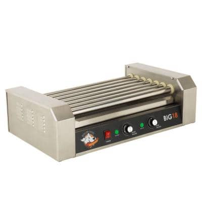 187 sq. in. Stainless Steel Hot Dog Roller Grill