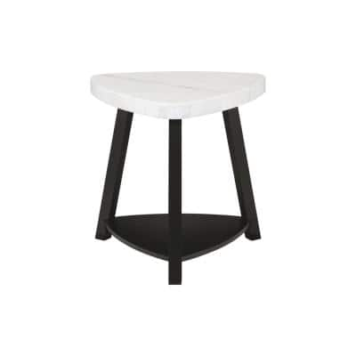 Lena White Marble Top 24 in. End Table