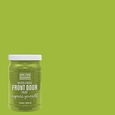 Express Yourself 1 qt. Satin Fortunate Green Water-Based Front Door Paint