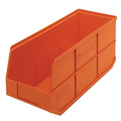 Stackable Shelf 20-Qt. Storage Tote in Orange (6-Pack)