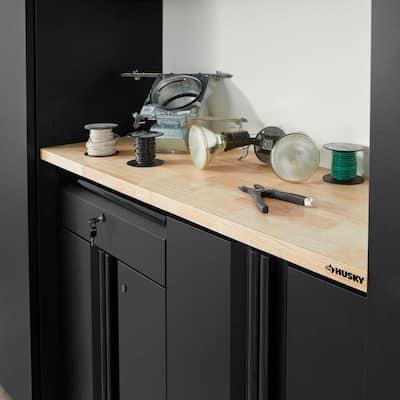 48 in. Solid Wood Work Surface for Regular Duty Welded Steel Garage Storage System