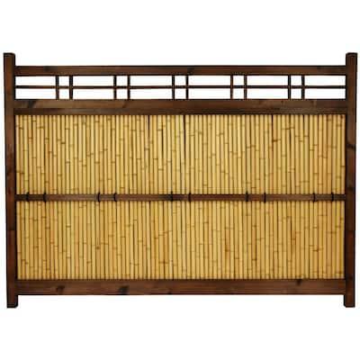 47 in. Bamboo Garden Fence