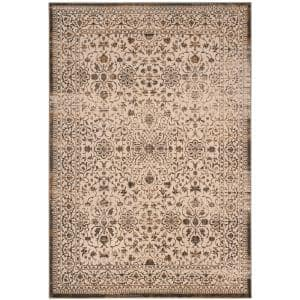 Safavieh Brilliance Cream Black 7 Ft X 9 Ft Area Rug Brl502c 7 The Home Depot
