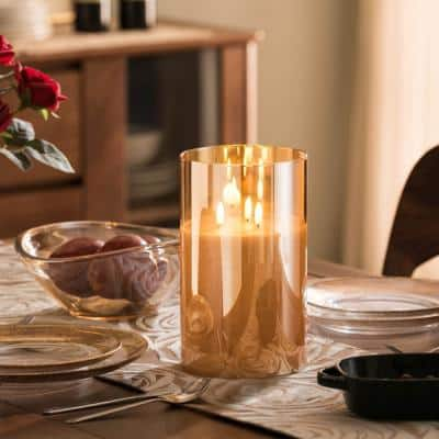 Grand Gold Mirrored LED Flameless Oversized Pillar Candle