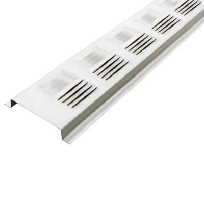 2.6 in. x 97.25 in. Rectangular White UV Resistant Aluminum Soffit Vent (Sold in a carton of 50 only)