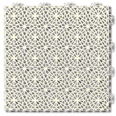 Unique 1.24 ft. x 1.24 ft. PVC Garage Floor Tile in Sandstorm (14 Tiles per Case)