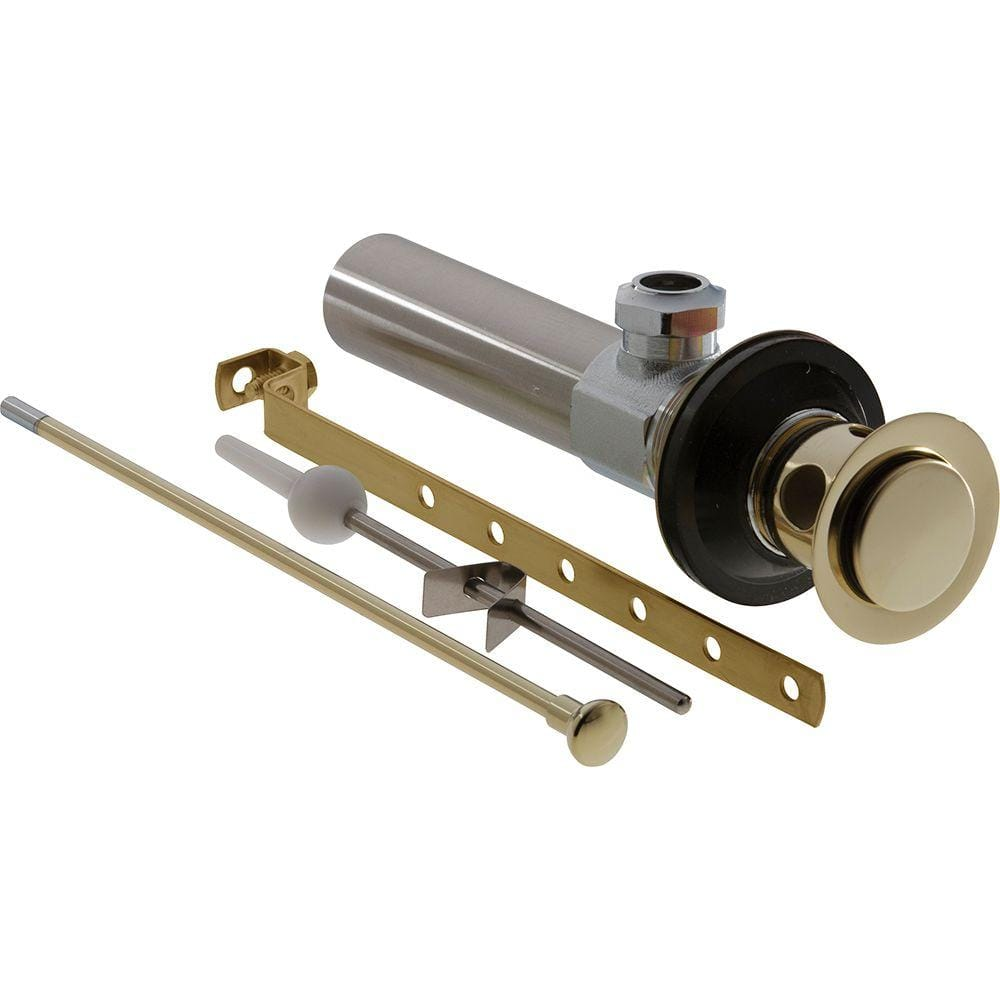 Delta Bathroom Faucet Drain Assembly In Polished Brass Rp5651pb The Home Depot