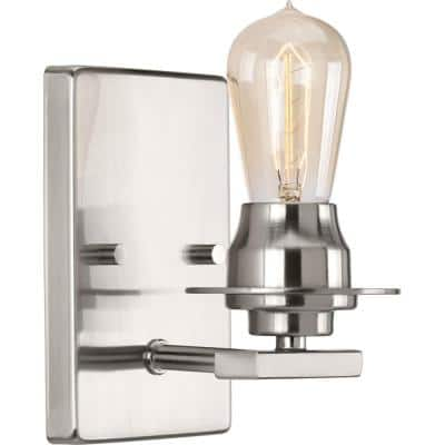 Debut Collection 1-Light Brushed Nickel Farmhouse Bath Vanity Light