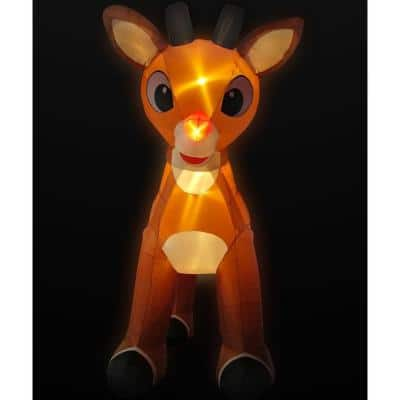 15 ft. Pre-Lit Reindeer with Moving Head