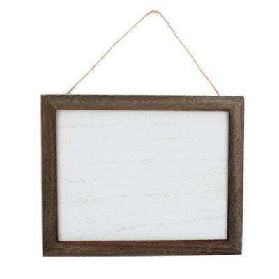 Project Craft Framed Blank Wood Plaque for Signs and Decor, Dark Wood Frame with Whitewashed Sign, 10 in. x 8 in.