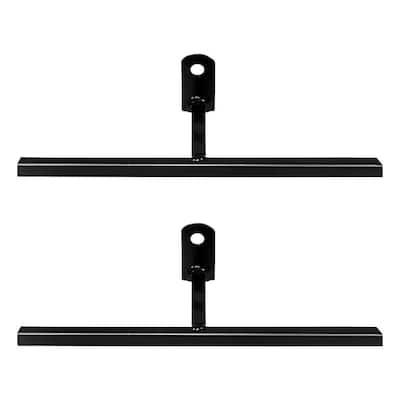 3 in. Black T-Bracket with Screws (2-Pack)
