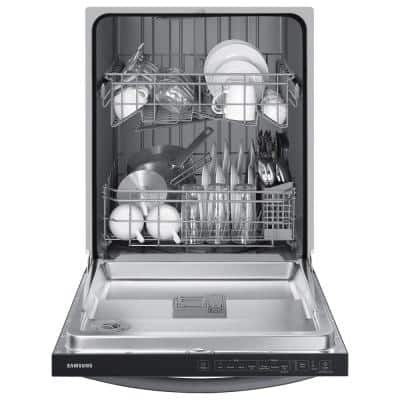 24 in. Top Control Tall Tub Dishwasher in Black with Stainless Steel Interior Door, 55 dBA