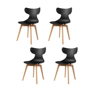 Whale Leisure Black Dining Chair (Set of 4)