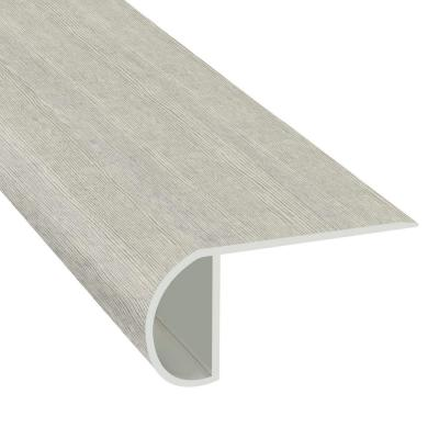 Morning Frost 1.03 in. T x 2.23 in. W x 94 in. Length Overlap Vinyl Stair Nose