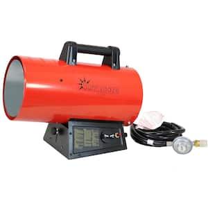 60,000 BTU Forced Air Propane Space Heater with Overheat Auto-Shutoff