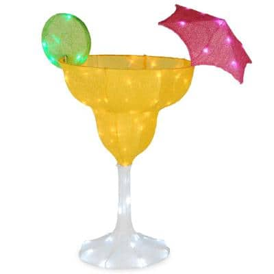 36 in. Margarita Glass with LED Lights