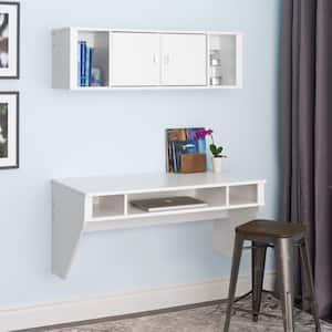 Designer 2-Piece White Laminate Office Suite