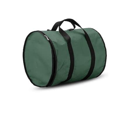 15 in.Green Polyester 600 Denier Christmas Light Storage Bag(300-Light Bulbs)