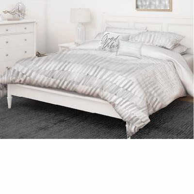 Wade 5-Piece Grey Ultra-Soft Microfiber Full/Queen Comforter Set