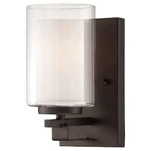 Parsons Studio 1-Light Smoked Iron Bath Light