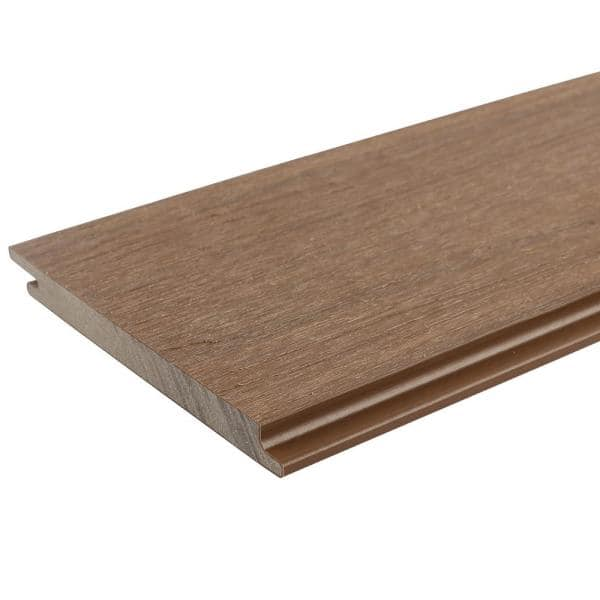 NewTechWood All Weather System 5.5 in. x 96 in. Composite Siding Board in Peruvian Teak   The Home Depot