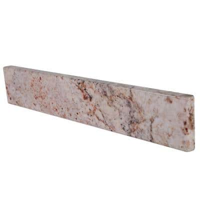 17 in. Stone Effects Sidesplash in Rustic Gold