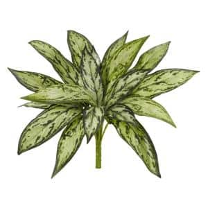 10 in. Variegated Silver Queen Artificial Plant in Green (Set of 6)