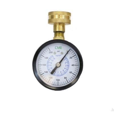 0 - 200 psi 2.5 in. Dial 3/4 in. Brass FNPT Water Test Gauge (5-Pack)