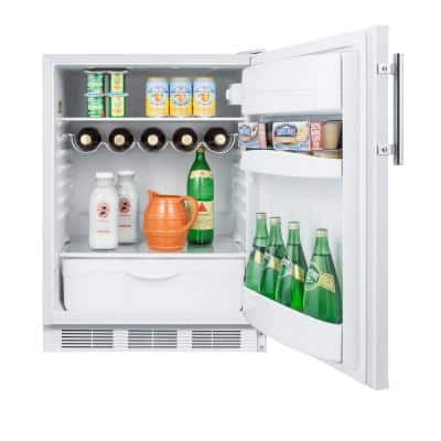 24 in. W 5.5 cu. ft. Mini Refrigerator in White without Freezer