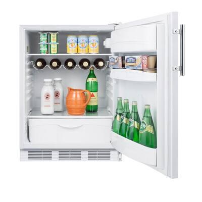 24 in. W 5.5 cu. ft. Mini Fridge in White without Freezer