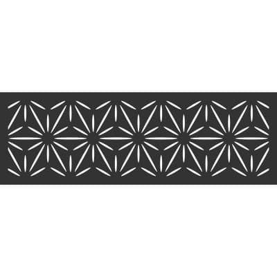 70 in. x 23.75 in. Jasmine Hardwood Composite Decorative Wall Decor and Privacy Panel, Black