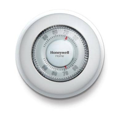 Round Non-Programmable Thermostat with 1H Single Stage Heating