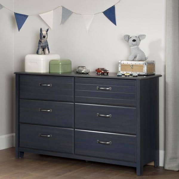 South Shore Ulysses 6-Drawer Blueberry Dresser   The Home Depot
