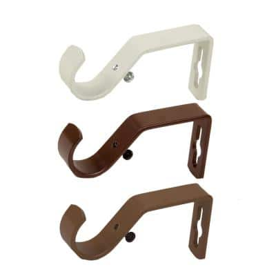 "1"" Metal Bracket ( Pair ) - Pearl White"