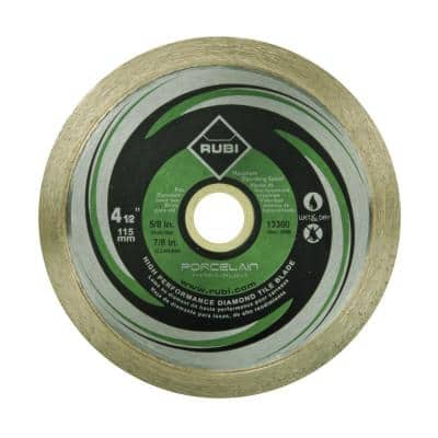 4-1/2 in. Premium Porcelain Diamond Blade for Dry and Wet Cutting