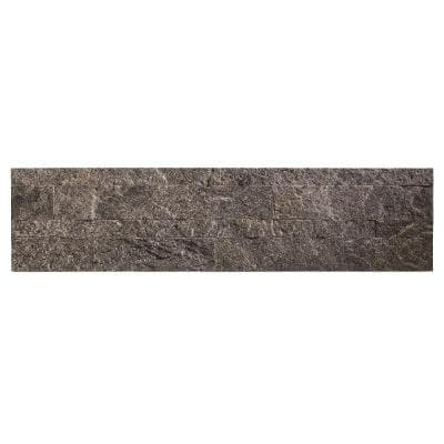 24 in. x 6 in. Peel and Stick Stone Decorative Backsplash in Frosted Quartz (3-Pack)