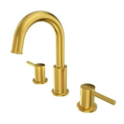 St. Lucia Collection 8 in. Widespread 2-Handle Bathroom Faucet. in Gold finish