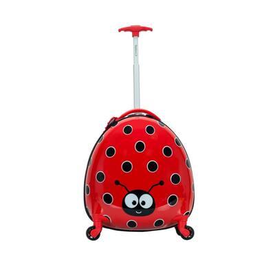 17 in. Jr. Kids' My First Polycarbonate Hardside Spinner Luggage, Ladybug